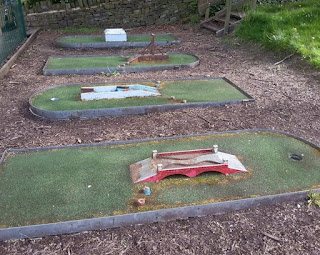 Shibden Park Crazy Golf course in Halifax, West Yorkshire. Photo by Brad Shepherd