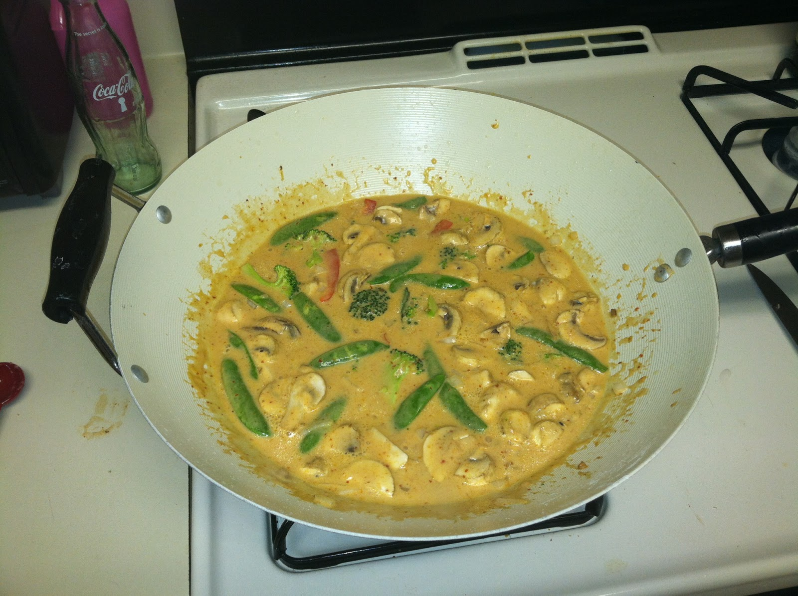 Panang Curry simmering