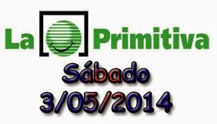 Primitiva del sábado 3 de mayo de 2014