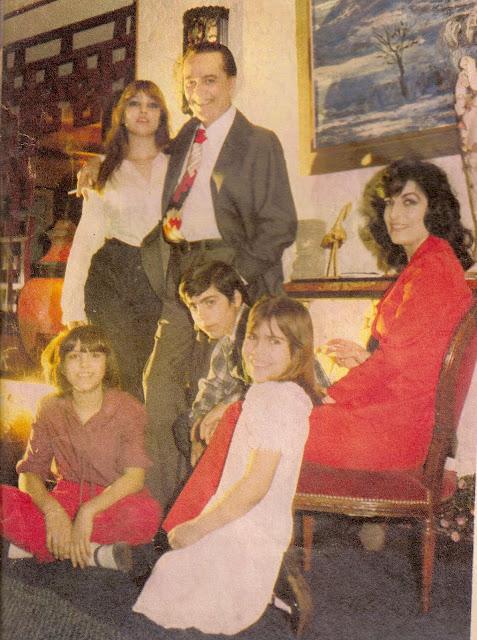Hugo del Carril, Violeta Courtois y sus hijos