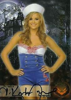 Kara Monaco wearing sexy sailer uniform