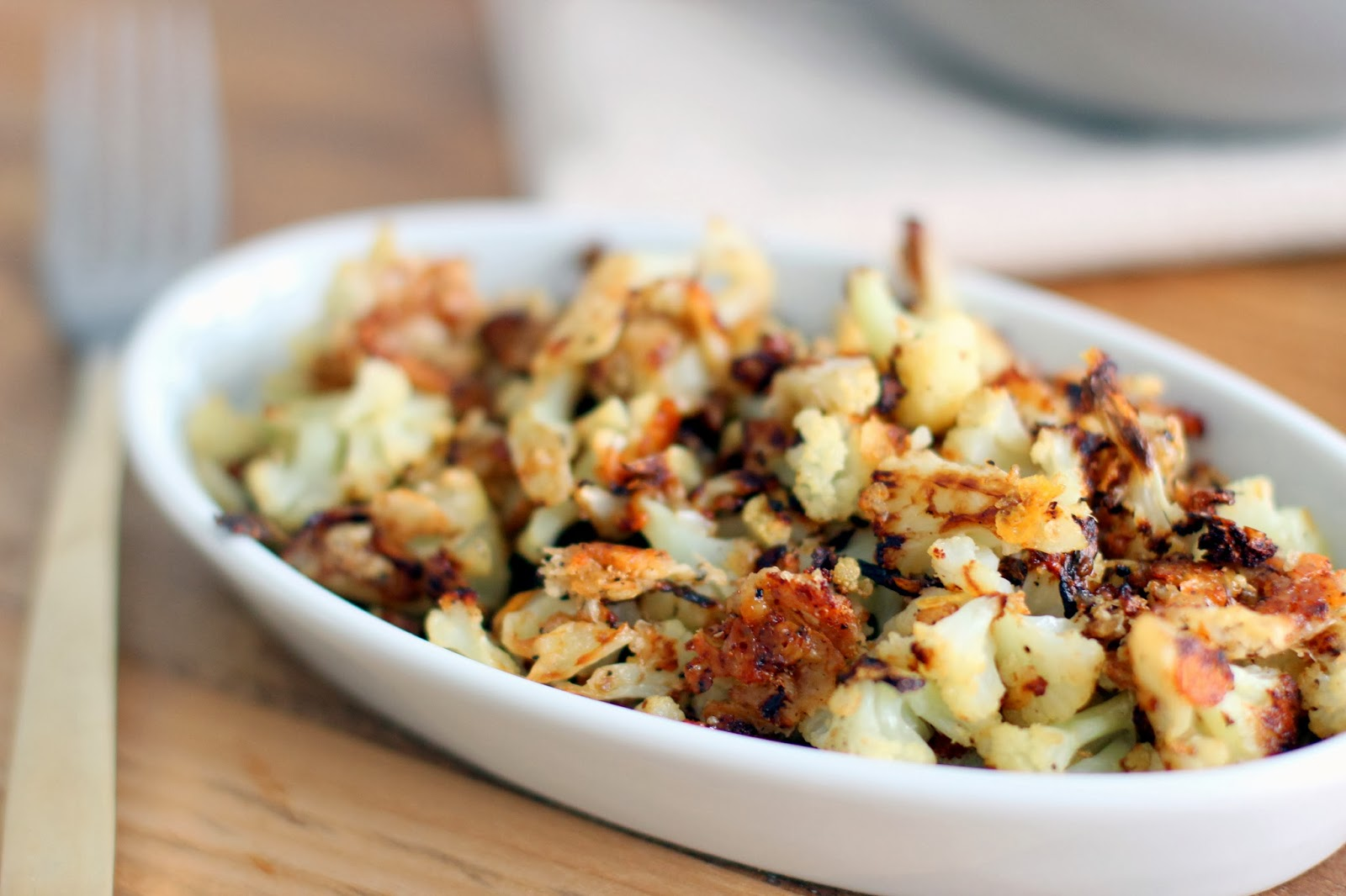 The Owl with the Goblet: Parmesan Roasted Cauliflower