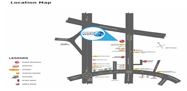 Mantri Webcity Location Map