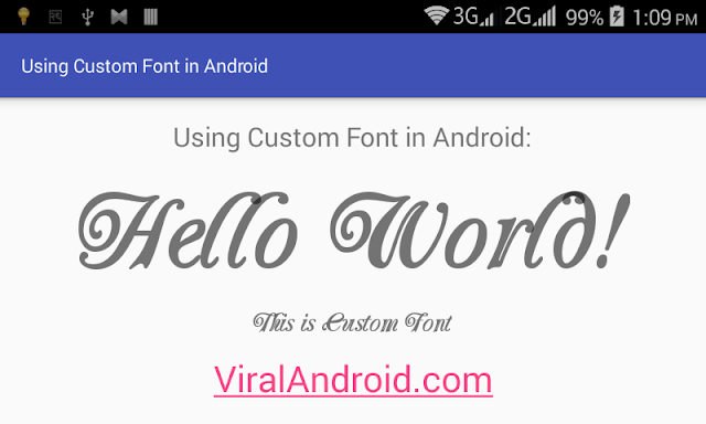 Android Example: Loading External/Custom Fonts in Android App