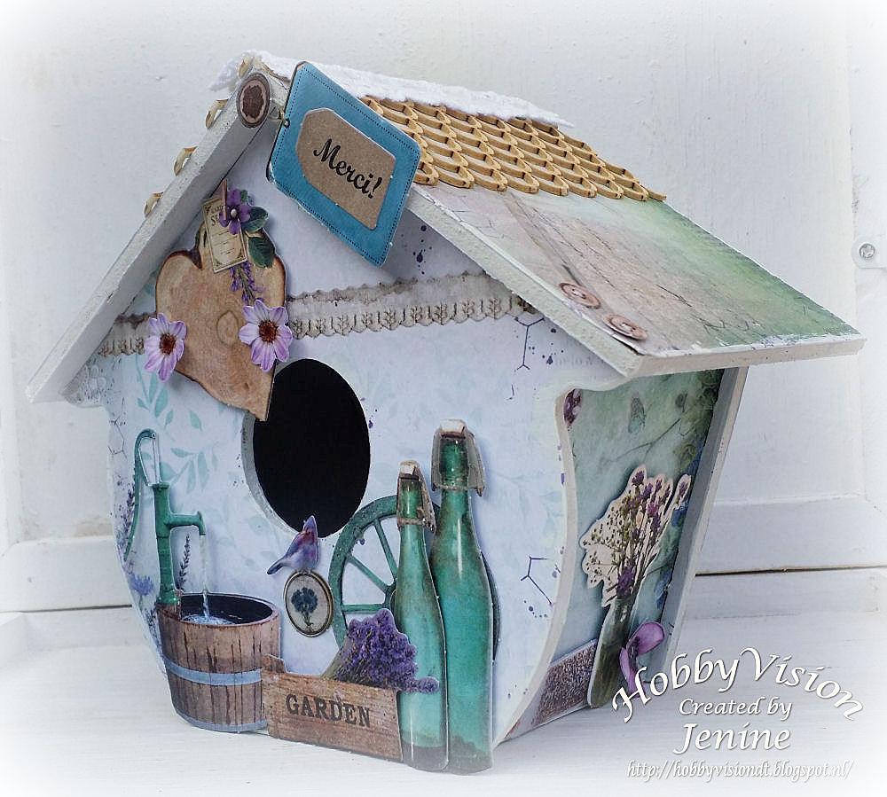 Jenine's Card Ideas: MDF huisje La Provence