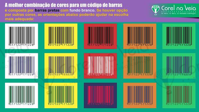 cores para um código de barras