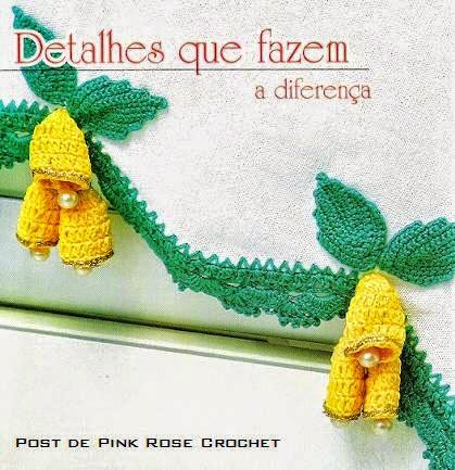 Puntilla tejida al crochet con campanitas