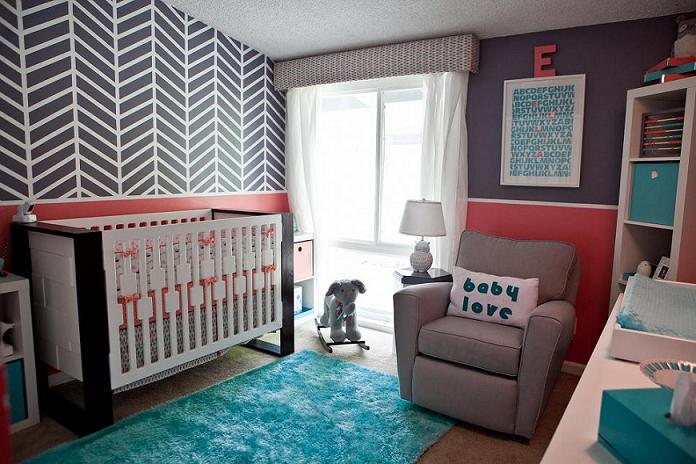 Custom Nursery Art By Kimberly Modern Baby Girl Nursery Ideas