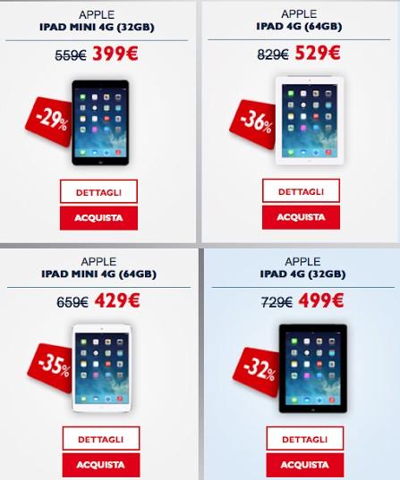 Per San Valentino ecco un idea regalo da TIM: iPad Mini e iPad 4 scontati fino a 300 euro