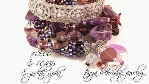Tanya Lochridge Jewelry Amethyst Gemstone Multi-Strand Sterling Silver Bracelet