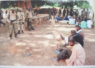The captured Boko Haram insurgents