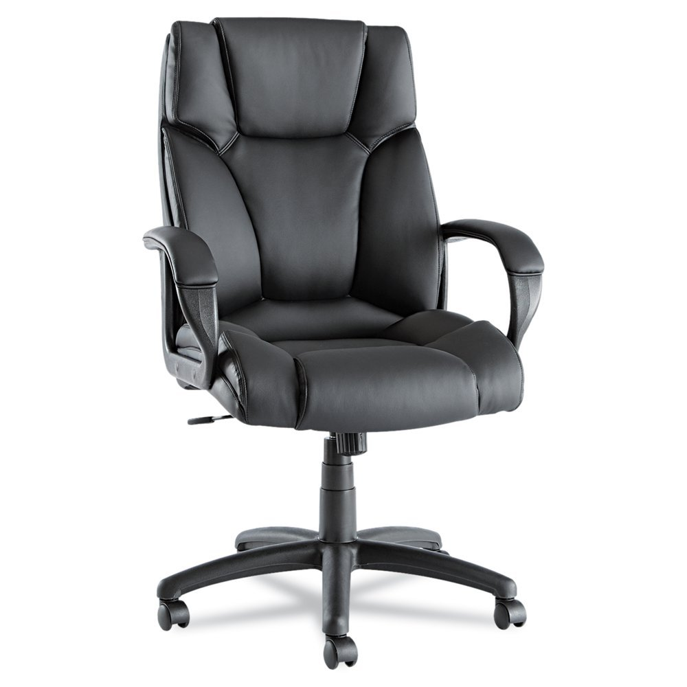 ... Office Chairs: Alera Fraze High-Back Swivel/Tilt Chair, Black Leather