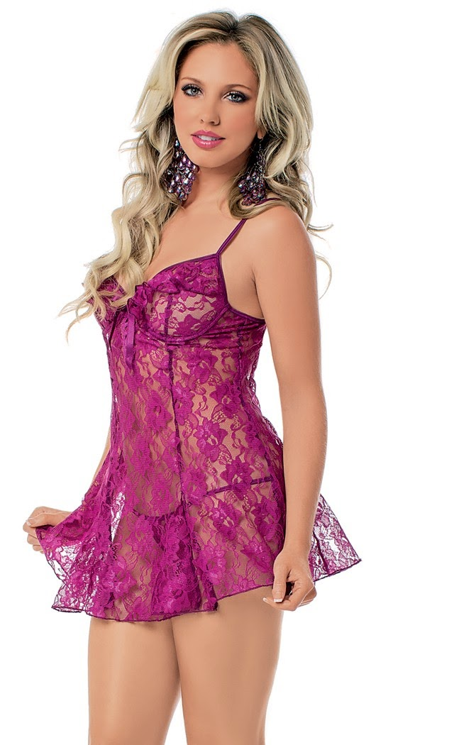 Lace Chemise with G-String