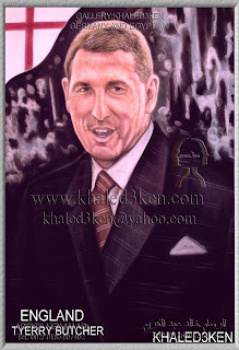 STARS ENGLAND TERRY BUTCHER Portrait Drawing Soccer Football Khaled3Ken Gallery