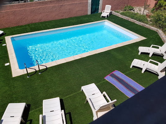 Villa olivier - Vue sur la piscine
