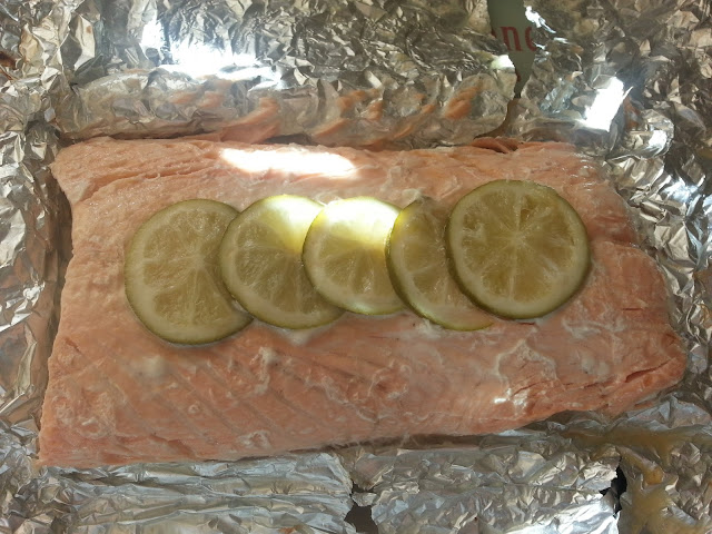 Cooked Salmon and Limes