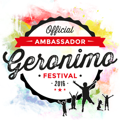I'm an Official Ambassador for Geronimo 2016!