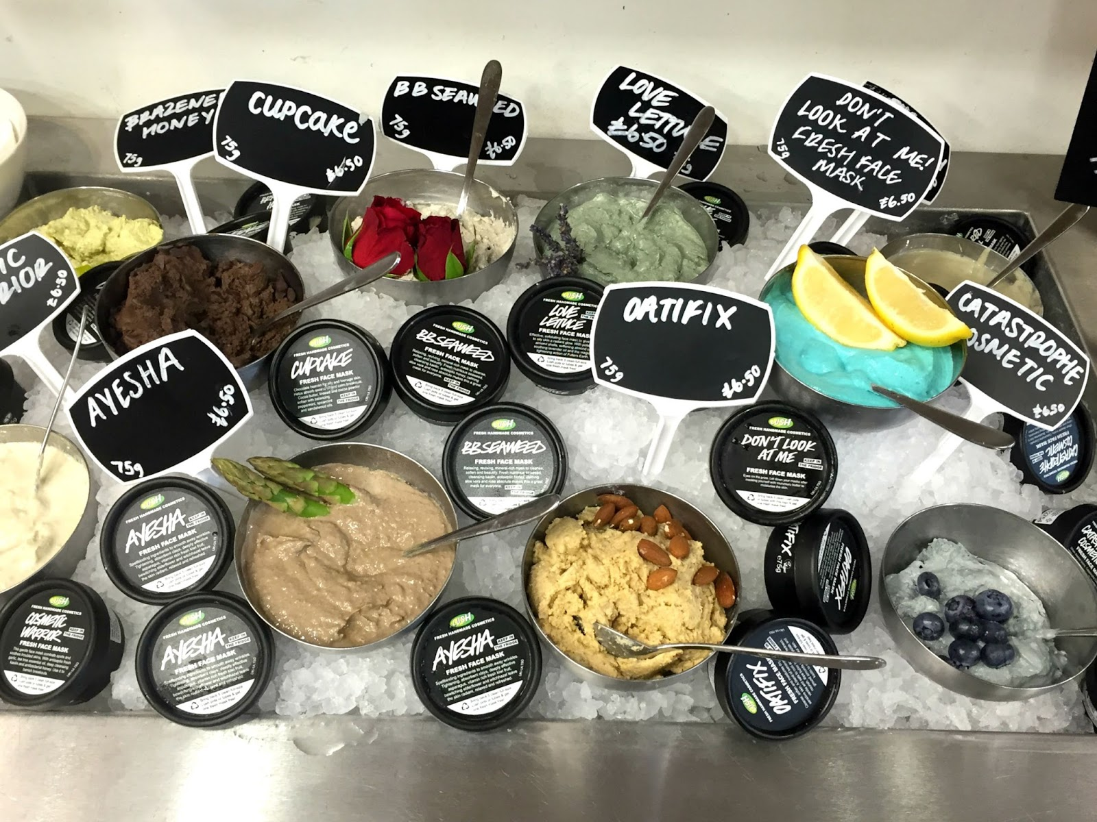Lush Summer Event Oxford Street Launch Facemasks