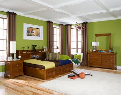 habitación infantil verde
