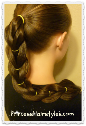 Reverse pull-through braid