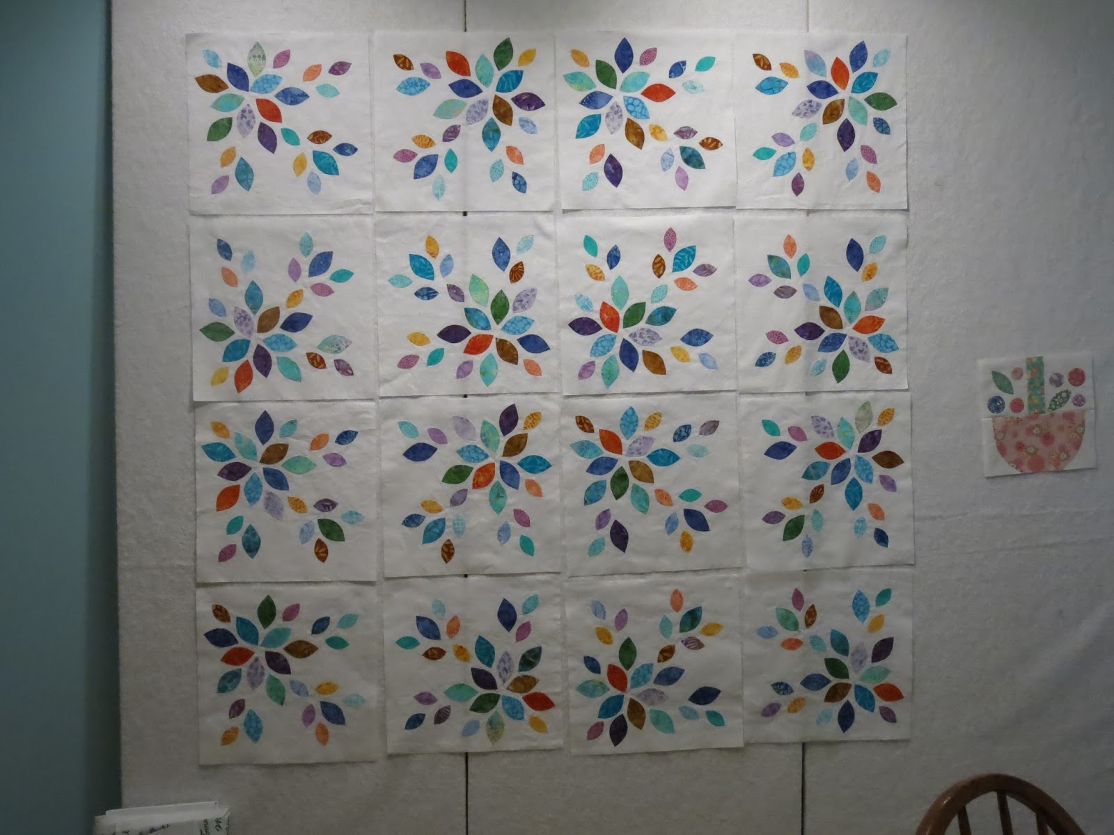 Miss Andrea Quilts On My Design Wall