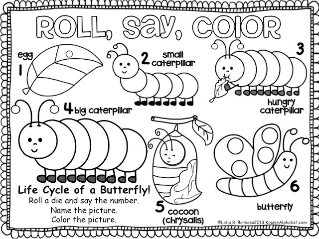 Chalk Talk Very Hungry Caterpillar Free Activites And Hungry Caterpillar Butterfly Coloring Page