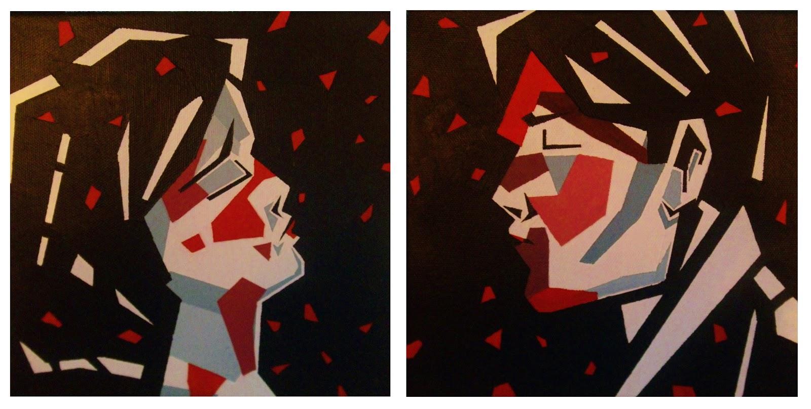 My Art: Three Cheers for Sweet Revenge inspired painting.