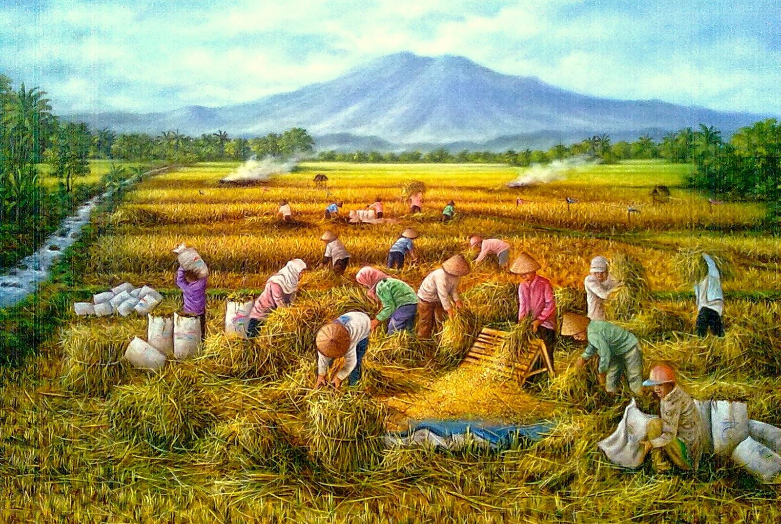 Dunia Lukisan JAVADESINDO Art Gallery: >> LUKISAN PANEN ...