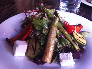 Stitch and Bear - Grilled vegetable and goat's cheese salad at Il Primo