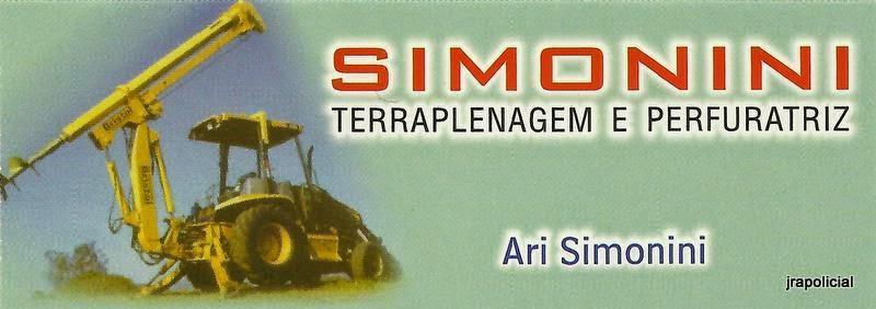 SIMONINI Terraplenagem e Perfuratriz Rua. José Celso Amaral,122  Jd América - Boituva - SP Cep: 18550-000 e-mail: arisimonini@hotmail.com tel: (15) 3263-1918 / 99771-7143