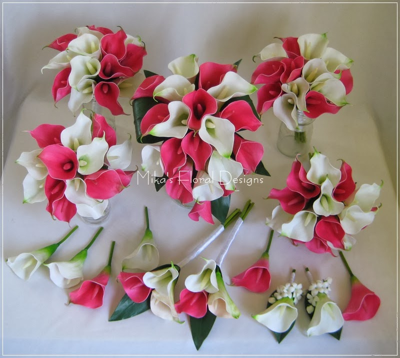 Wedding Flower Arrangements With Lilies : Artificial wedding flowers and bouquets australia real touch calla lily stephanotis