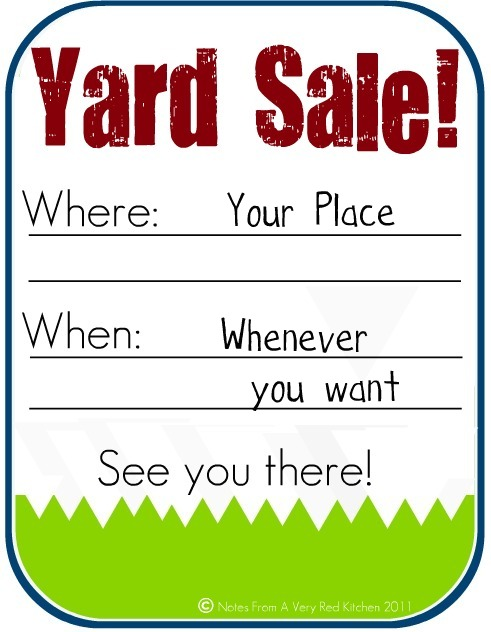 photograph regarding Printable for Sale Signs for Cars known as the pink kitchen area: How towards Host a Financially rewarding Backyard Sale (and