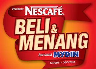 Peraduan Nescafe Beli & Menang bersama Mydin