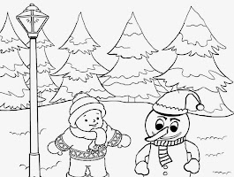 Snow Coloring Pages For Preschool