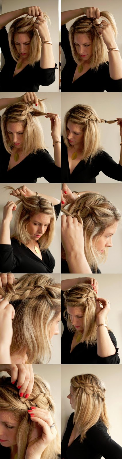 Types Hair Easy And Simple Side Braid Hairstyle