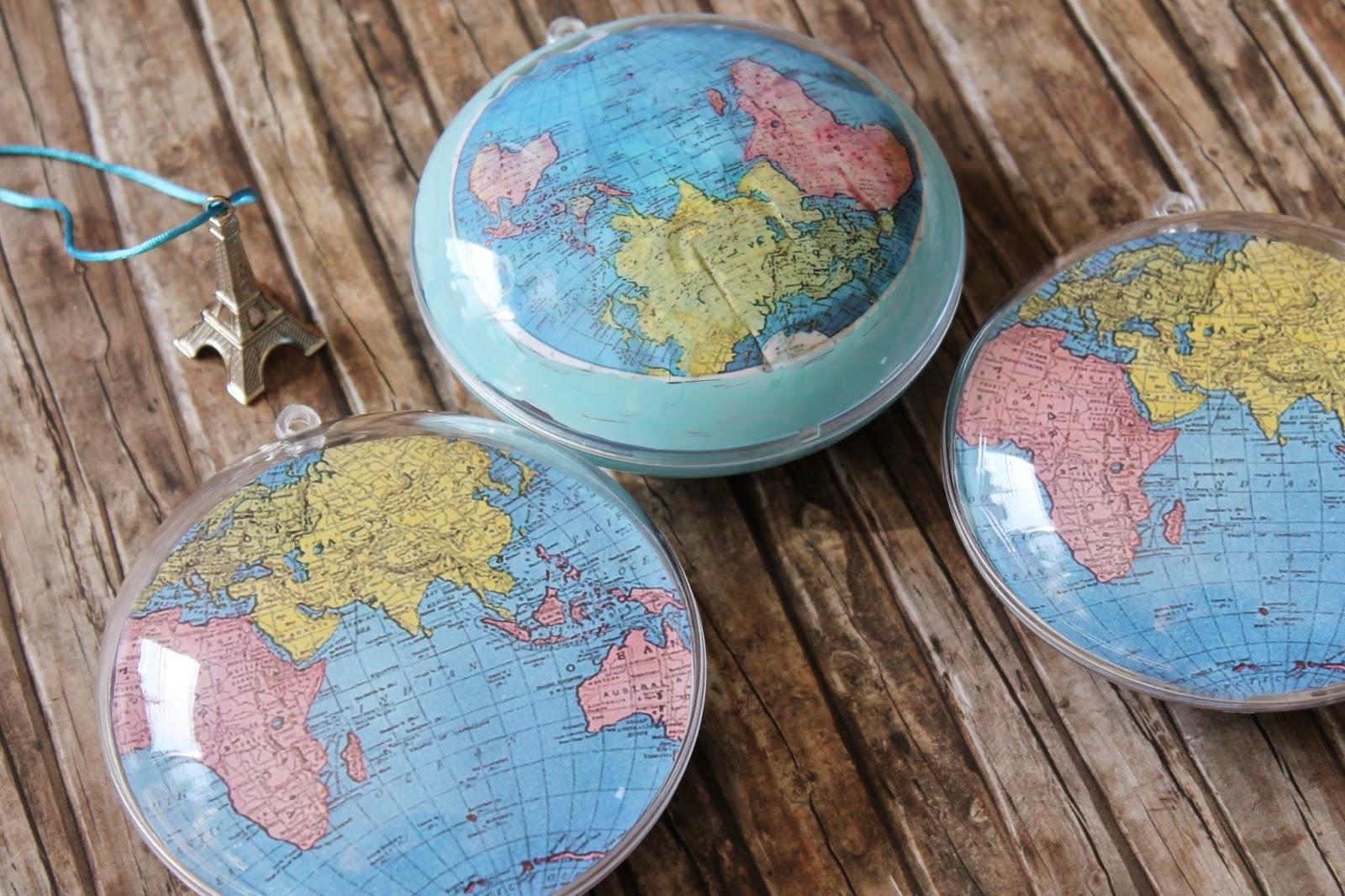 Weltkugeln aus Acrylkugeln