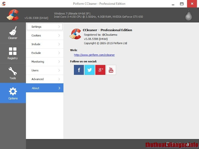 Download CCleaner v5.08.5308 PROFESSIONAL full key mới nhất