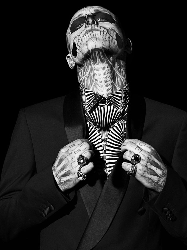 Tattooed Model 'Zombie Boy' Photographed for GQ Italia