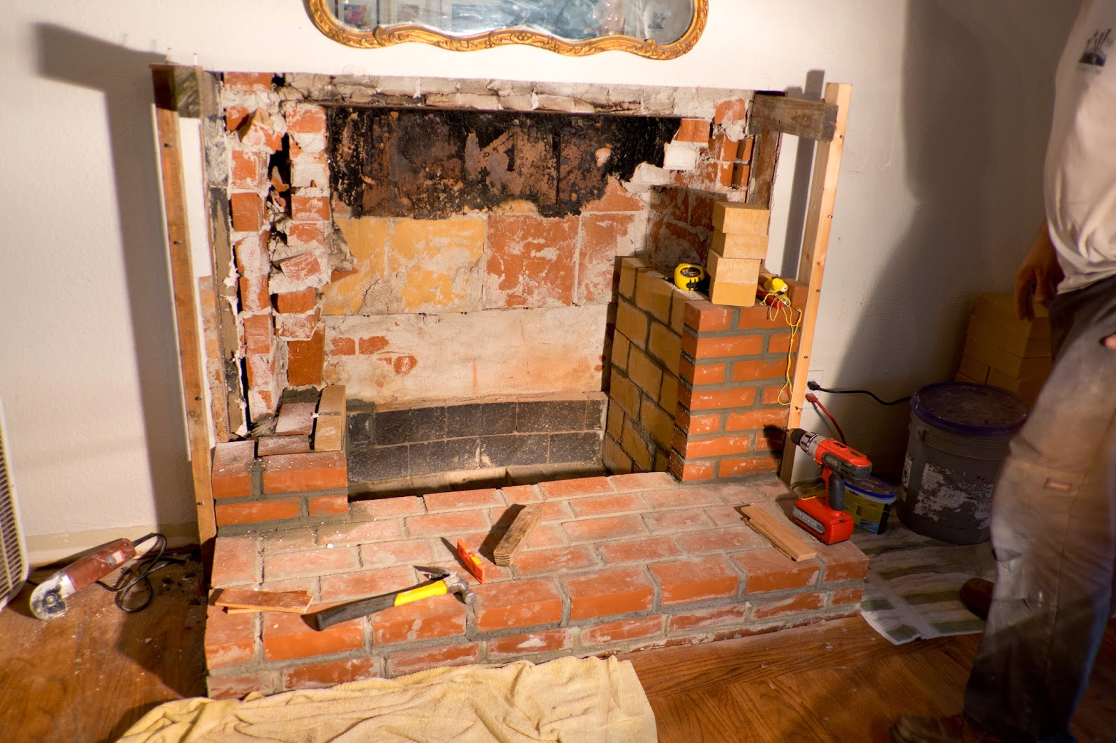 domestic fashionista recovering our fireplace