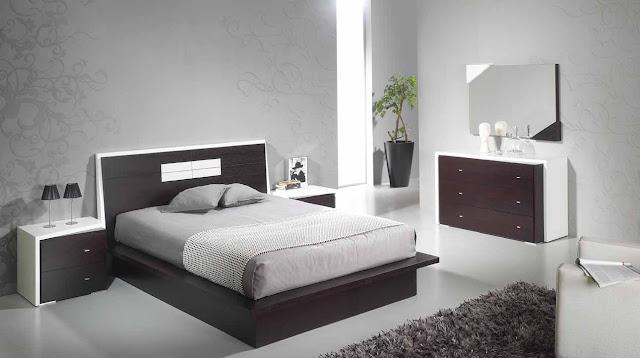 quarto de casal, preto e branco, grande