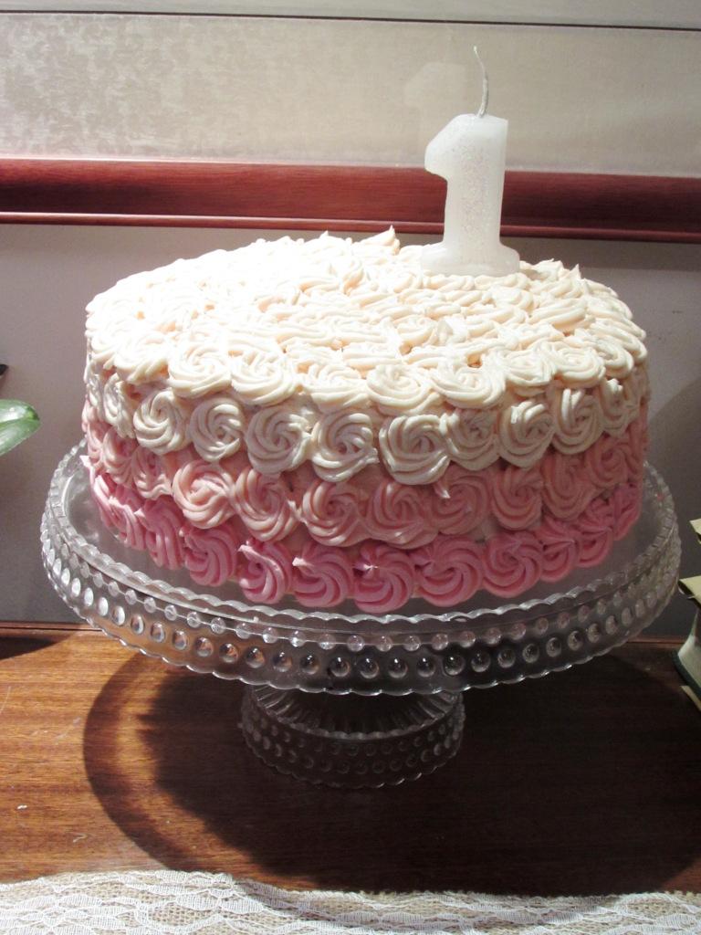 ~Baby Abigail's birthday cake~