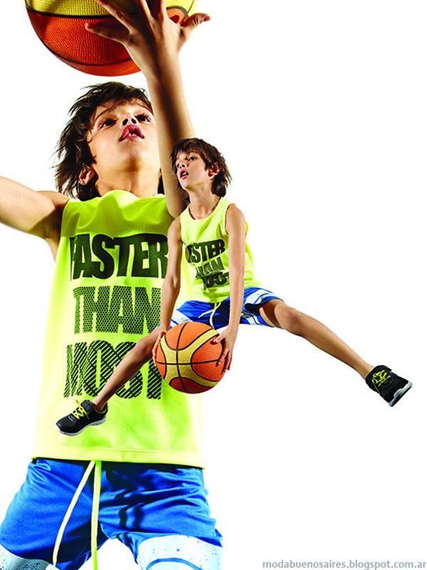 Moda verano 2016 ropa de deportiva para niños y niñas Fly Sports by Cheeky.