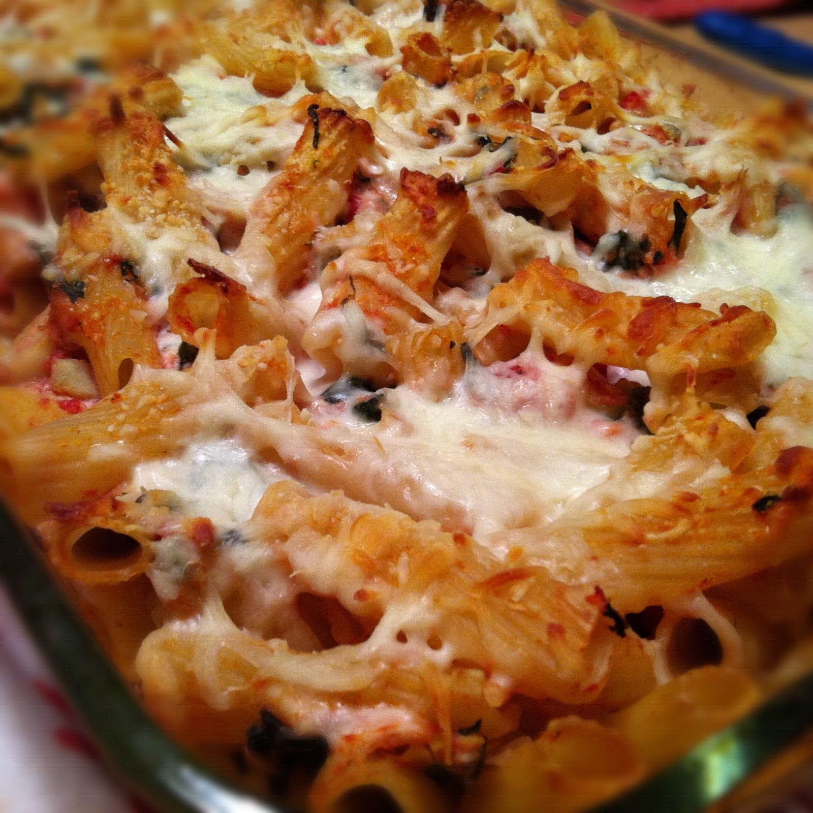 What's Cooking in the Burbs: Spinach and Artichoke Baked Ziti