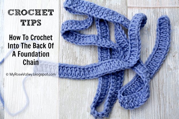 ... : CROCHET TIP: How To Crochet Into The Back Of A Foundation Chain