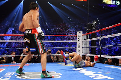 Juan Manuel Marquez scored a knock down before finally knocking Pacquiao out on the sixth round