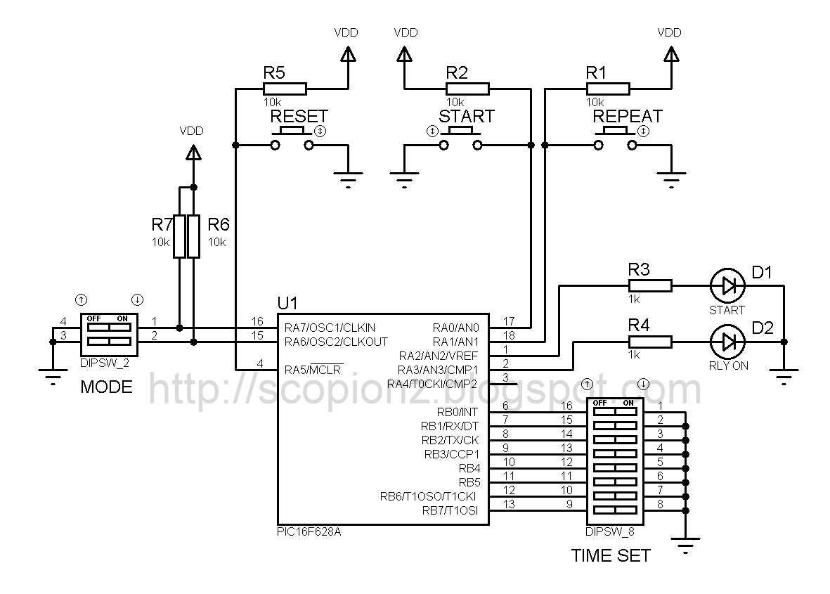 multi stage simple programmable timer circuit 16f628a ~ scorpionzsimple programmable timer circuit 16f628