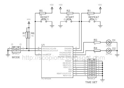 Simple Programmable Timer Circuit - 16F628