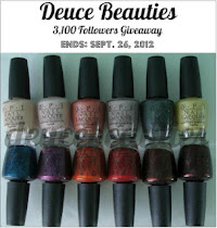 Giveaway: 3,100 Followers feat OPI Germany Collection