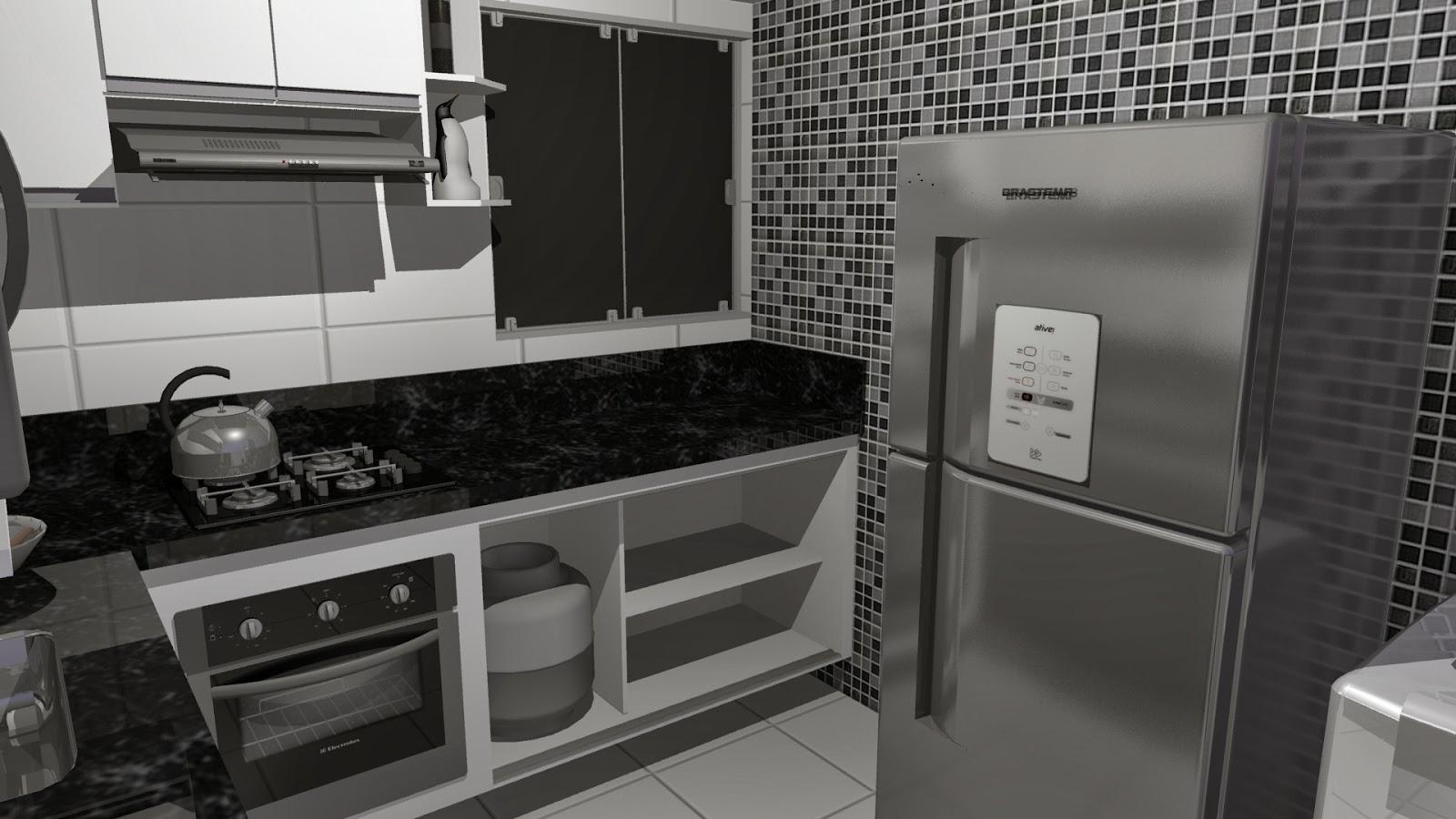 Campi Designer de interiores: Projeto Cozinha tipo Americana #30302E 1600 900
