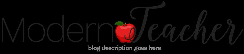 Modern Teacher Blog Design